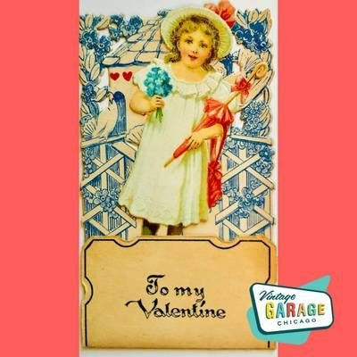Victorian Valentine Card Greeting Card Vintage Garage Chicago