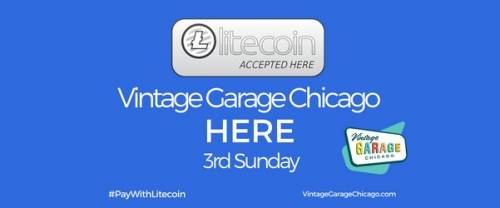 Pay with Litecoin at Vintage Garage Chicago!  Litecoin accepted here! Finally Litecoin in Chicago.