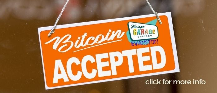 Bitcoin accepted at Vintage Garage in Chicago