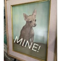 Vintage pet portrait Chihuahua